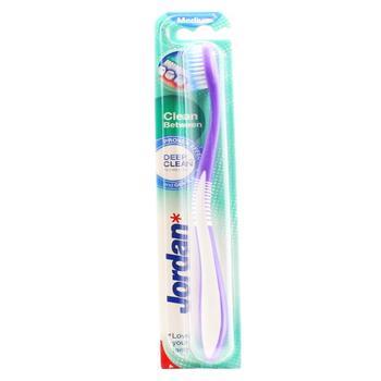 Щетка зубная Jordan Clean Between Medium средней жесткости 1шт - купить, цены на Ашан - фото 1