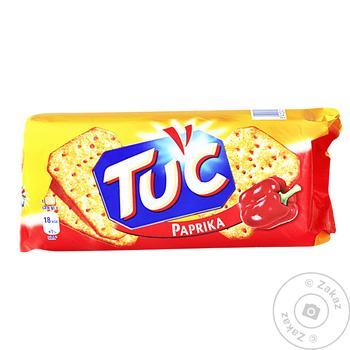 Крекер Tuc солоний зі смаком паприки 100г Україна - купити, ціни на Novus - фото 1