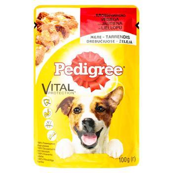 Корм для собак Pedigree з яловичиною в желе 100г - купити, ціни на Ашан - фото 1