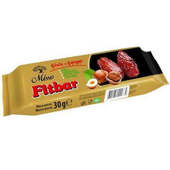 Батончик Misso Fitbar фінік+фундук 30г