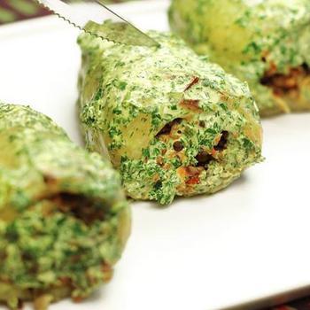 Перец, фаршированный гречкой и сыром