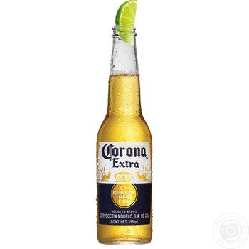 Пиво Corona Extra 4,5% 0,355л - купить, цены на Метро - фото 1
