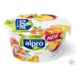 Alpro peach soya yogurt 150g