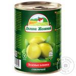 Dolyna Zhelanyy Green Olives with Bone 260g