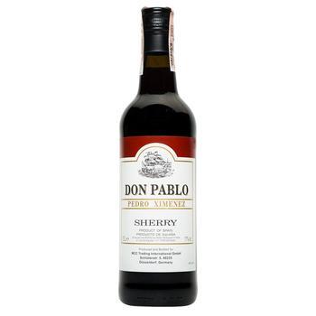 Вино Херес Don Pablo Pedro Ximenez Sherry крепленое сладкое 17% 0,75л
