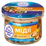 Vodnyi Mir Mussels Meat in Oil 170g
