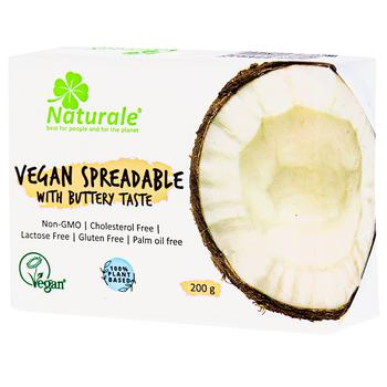 Смесь растительных жиров Naturale Веганская со сливочным вкусом 75% 200г - купить, цены на ЕКО Маркет - фото 1