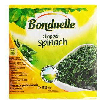 Шпинат Bonduelle резанный порционный 400г - купить, цены на МегаМаркет - фото 1
