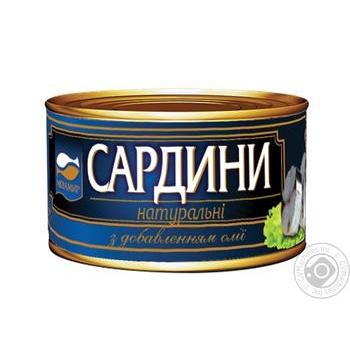 Косерва рибна Аквамир скумбрія стерилізована натуральна з додаванням олії 230г - купити, ціни на Novus - фото 5