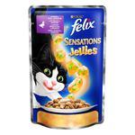 Корм Felix Sensations Jellies С уткой в желе со шпинатом для взрослых котов 100г