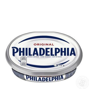 Сыр мягкий Kraft foods Филадельфия оригинальный 69% 175г - купить, цены на Восторг - фото 1