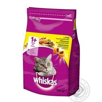 Корм Whiskas сухой Курица для котов 950г