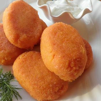 Котлеты морковно-яблочные, запеченные