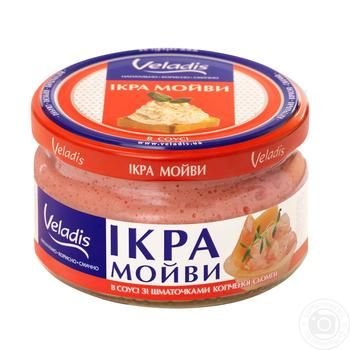 Capelin roe with smoked salmon pieces Veladis 180g - buy, prices for MegaMarket - image 1