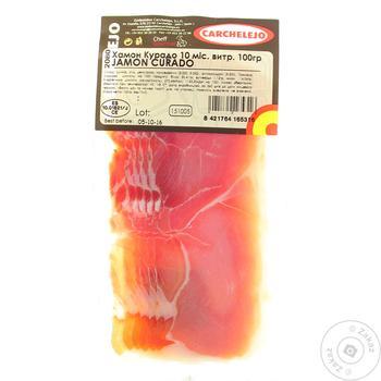 Хамон Карчеледжо Курадо 100г - купить, цены на Фуршет - фото 1