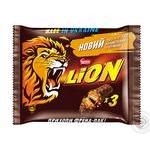 Батончик шоколадний Nestle Lion з карамеллю 3*42г мультипак