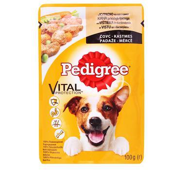 Корм Pedigree для собак с курицей и овощами в соусе 100г