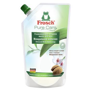 Мыло жидкое Frosch Миндальное молочко 500мл - купить, цены на Novus - фото 1
