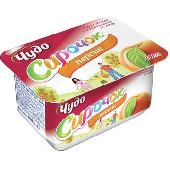 Chudo Whipped Cottage Cheese Peach 5% 100g - buy, prices for EKO Market - photo 1
