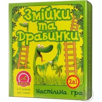 """Настольная игра Arial """"Змейка и лестницы"""" - купить, цены на Таврия В - фото 1"""