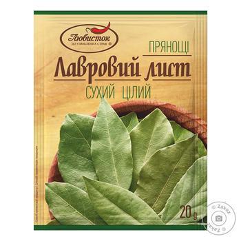 Лавровый лист Любисток Отборный сухой 20г