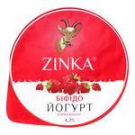 Бифидойогурт Zinka из козьего молока с клубникой 4,2% 100г