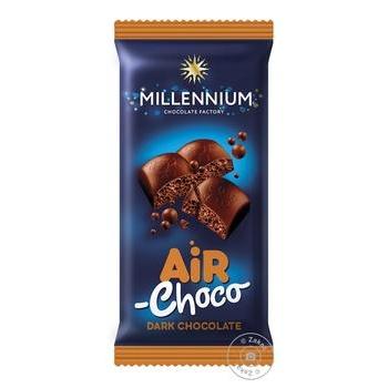 Шоколад Millennium черный пористый 80г
