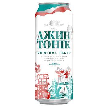 Напиток Оболонь Джин Тоник слабоалкогольный сильногазированный 0,5л ж/б