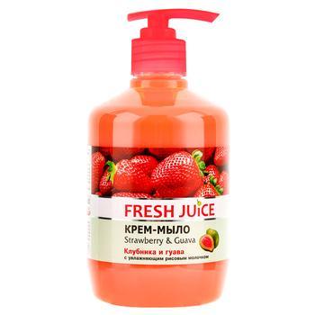 Мило рідке Fresh Juice Strawberry&Guava 460мл - купить, цены на МегаМаркет - фото 1