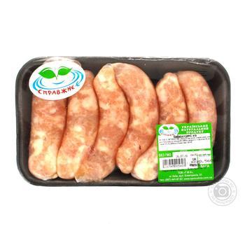 Колбаски куриные Справжнє-є охлажденные - купить, цены на Ашан - фото 1