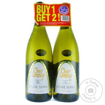 Набор вина Jaume Serra Chardonnay белое сухое 12,5% 2х0,75л