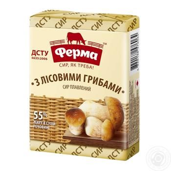 Ferma with mushrooms processed cheese 55% 90g