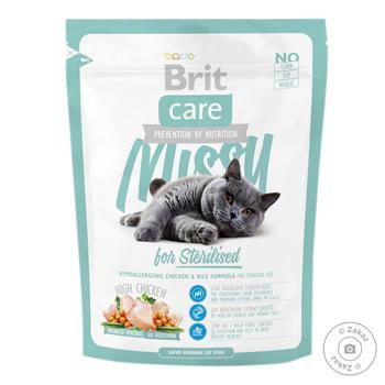 Корм сухой Brit Care Missy для стерилизованных котов 400г