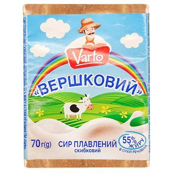 Сыр Varto Сливочный плавленый 55% 70г - купить, цены на Varus - фото 1
