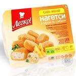 Нагетси Легко з сиром та грибами заморожені 450г Україна
