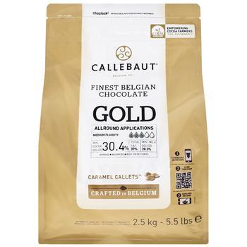 Callebaut Gold Finest Belgian Chocolate Caramel Callets30% 2,5kg