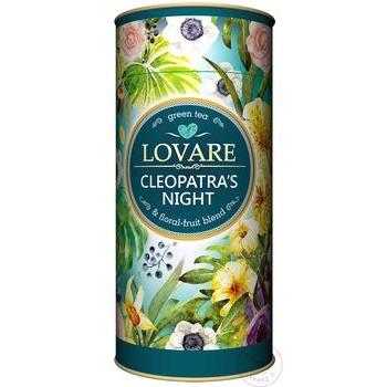 Чай зелений Lovare Ніч Клеопатри листовий з ягодами та фруктами 80г - купити, ціни на Novus - фото 1