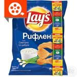 Lay's Wavy potatoes chips with sour cream and onion flavor 71g
