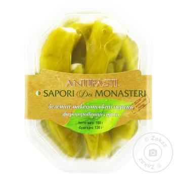 Перець зелений македонський фарширований сиром SAPORI DEI MONASTERI 180г - купить, цены на Novus - фото 1