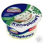Крем-сыр Hochland Kanapkowy с зеленым луком 130г