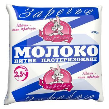 Молоко Заріччя 2,5% 450г - buy, prices for Auchan - photo 1