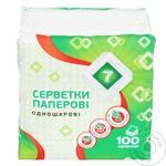Semerka Green Napkins 100pc - buy, prices for Tavria V - image 1