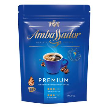 Кофе Ambassador Premium растворимый 170г - купить, цены на Novus - фото 1