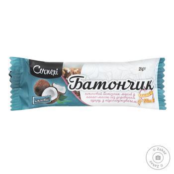 Батончик-мюсли Cornexi Кокосовый без сахара в какао-массовой глазури 25г