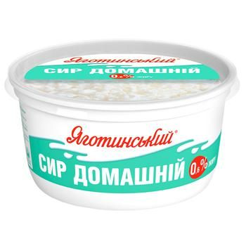 Yagotynsky Homemade Low-Fat Cottage Cheese 0,6% 370g - buy, prices for Novus - photo 1