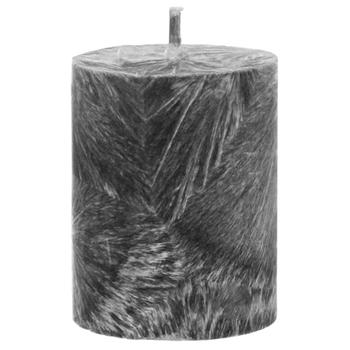 Свеча CandlesBio восковая цилиндр серый 55/70 - купить, цены на Novus - фото 1