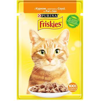 Корм для котів Friskies з куркою шматочки у соусі 85г - купити, ціни на CітіМаркет - фото 1