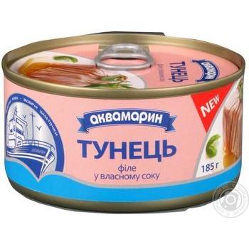 Akvamaryn Canned Tuna Fish 185g - buy, prices for MegaMarket - image 1