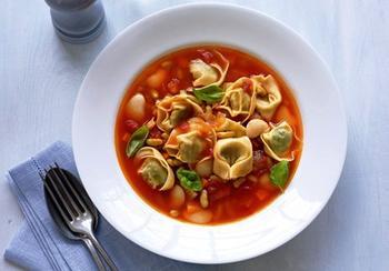 Квасолевий суп із равіолі