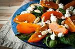 Салат из хурмы и сыра фета